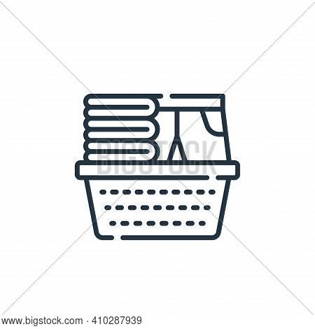 laundry icon isolated on white background from cleaning collection. laundry icon thin line outline l