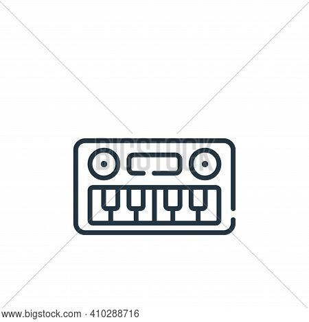 keyboard icon isolated on white background from children toys collection. keyboard icon thin line ou
