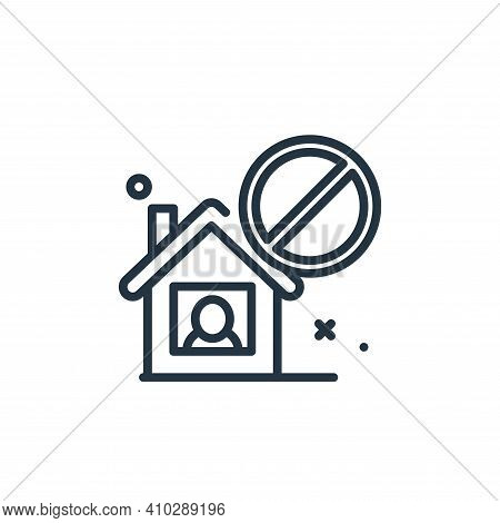 isolated icon isolated on white background from virus restrictions collection. isolated icon thin li