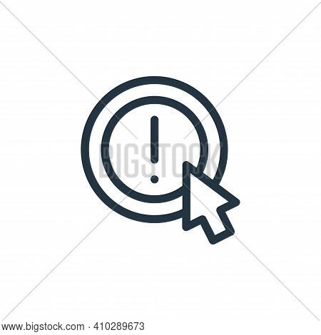 information icon isolated on white background from online learning collection. information icon thin