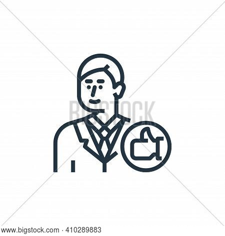 impression icon isolated on white background from branding collection. impression icon thin line out