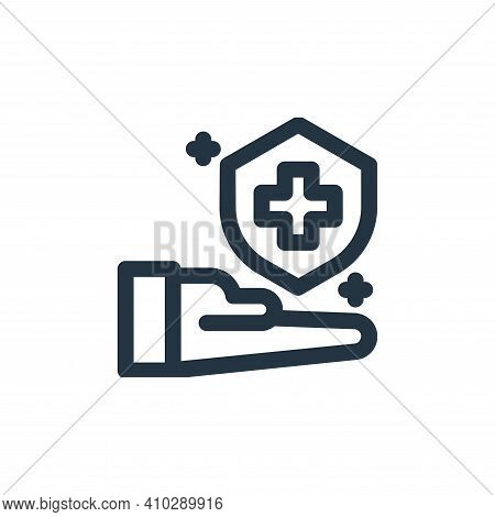 immune system icon isolated on white background from coronavirus collection. immune system icon thin