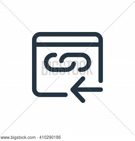 hyperlink icon isolated on white background from web apps seo collection. hyperlink icon thin line o