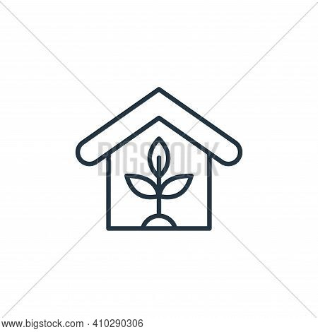 house icon isolated on white background from smart farm collection. house icon thin line outline lin
