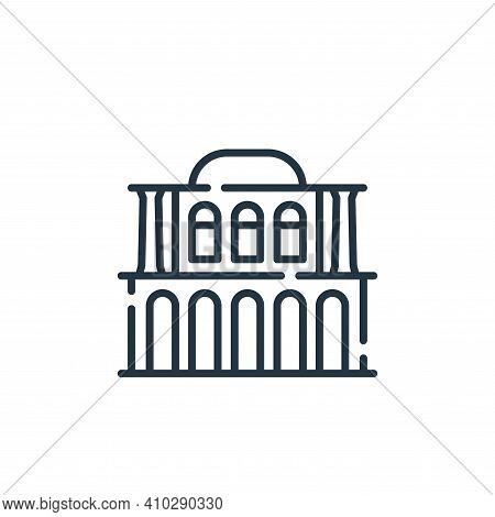 house icon isolated on white background from desert collection. house icon thin line outline linear