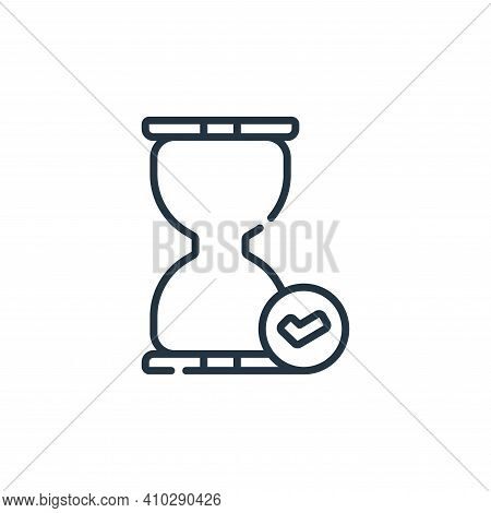 hourglass icon isolated on white background from calendar and date collection. hourglass icon thin l