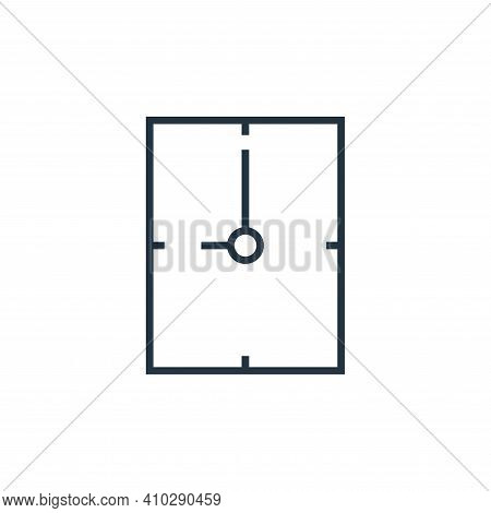 hour icon isolated on white background from school collection. hour icon thin line outline linear ho