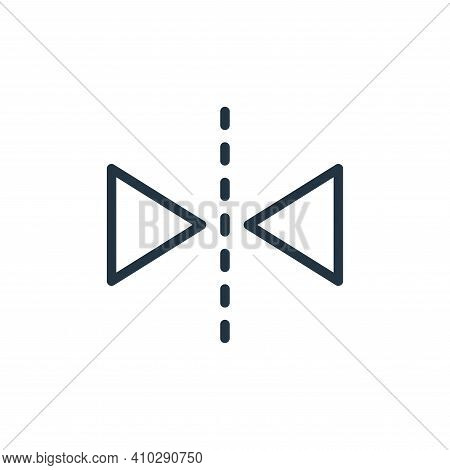 horizontal flip icon isolated on white background from photography collection. horizontal flip icon