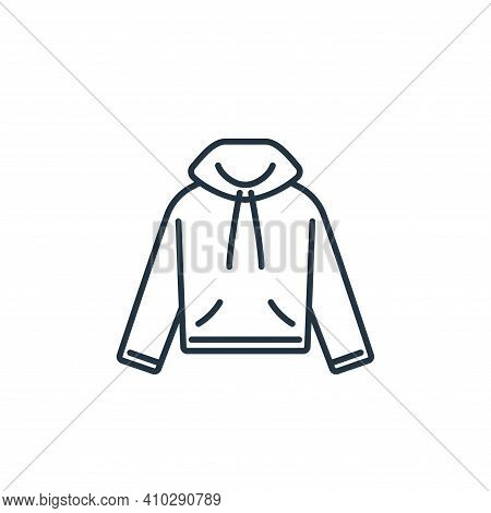 hood icon isolated on white background from clothes and outfit collection. hood icon thin line outli
