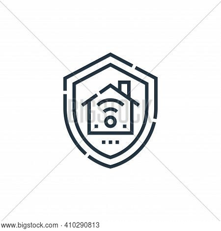 home insurance icon isolated on white background from smarthome collection. home insurance icon thin