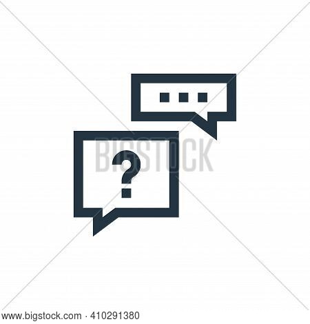 help icon isolated on white background from feedback and testimonials collection. help icon thin lin