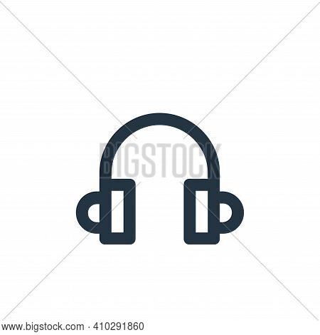 headphones icon isolated on white background from user interface collection. headphones icon thin li
