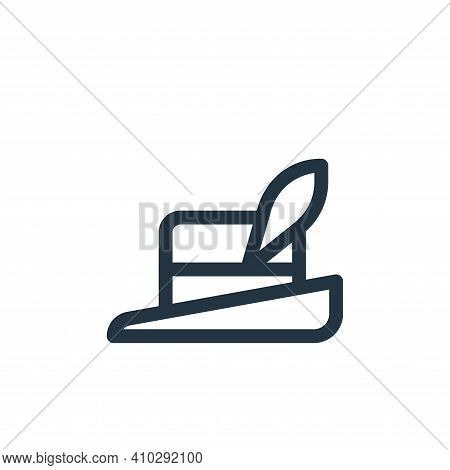 hat icon isolated on white background from europe collection. hat icon thin line outline linear hat