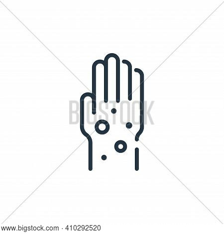 hand icon isolated on white background from virus transmission collection. hand icon thin line outli