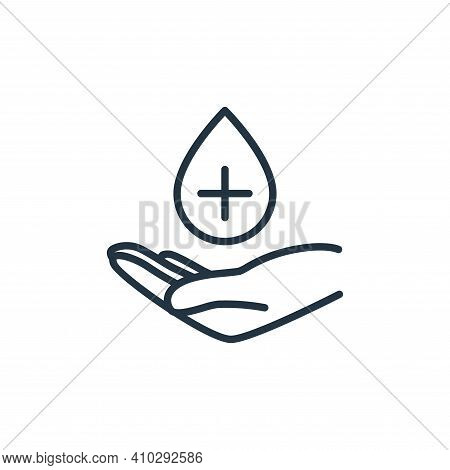 hand icon isolated on white background from stop virus collection. hand icon thin line outline linea