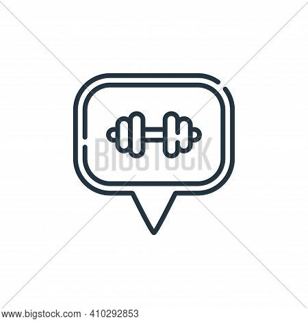 gym icon isolated on white background from navigation and maps collection. gym icon thin line outlin