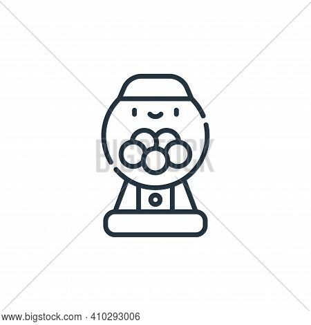gumball machine icon isolated on white background from circus collection. gumball machine icon thin