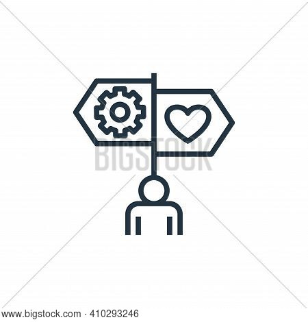 guidance icon isolated on white background from work life balance collection. guidance icon thin lin