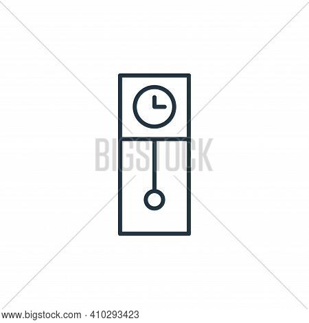 grandfather clock icon isolated on white background from interiors collection. grandfather clock ico