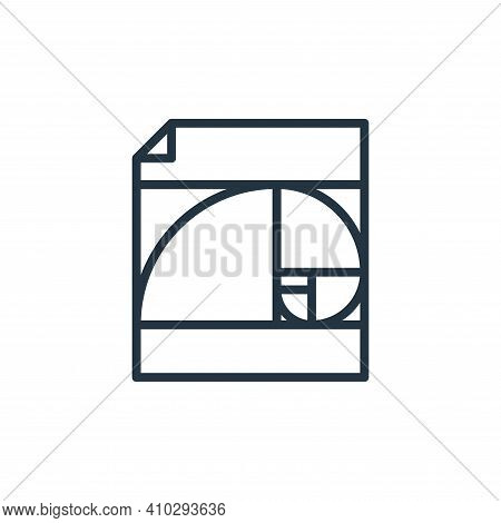 golden ratio icon isolated on white background from graphic design collection. golden ratio icon thi