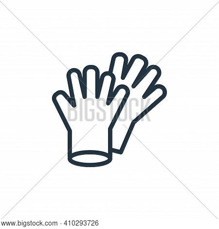 gloves icon isolated on white background from health and protection collection. gloves icon thin lin