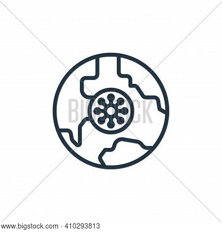 globe icon isolated on white background from coronavirus collection. globe icon thin line outline li