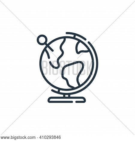 globe icon isolated on white background from navigation and maps collection. globe icon thin line ou