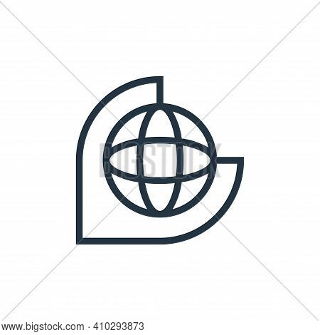 globe icon isolated on white background from education collection. globe icon thin line outline line