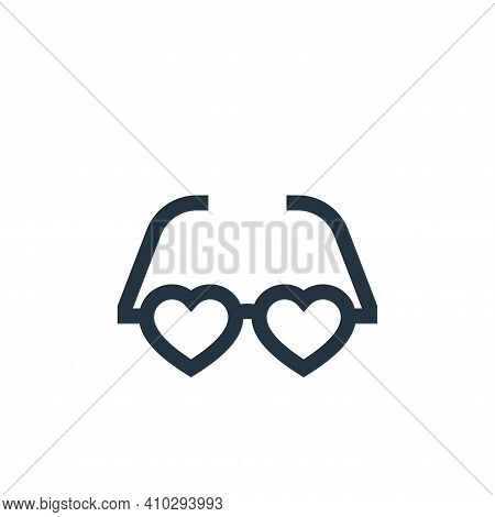 glasses icon isolated on white background from hippies collection. glasses icon thin line outline li