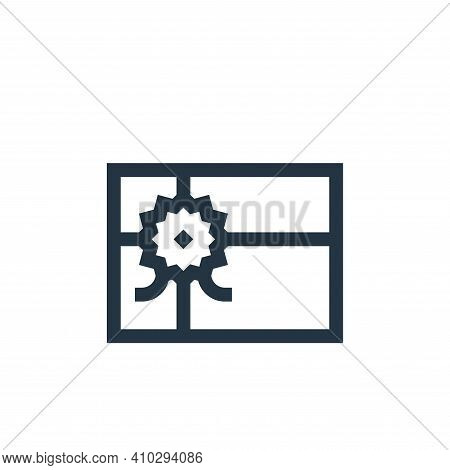 gift card icon isolated on white background from payment collection. gift card icon thin line outlin