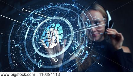 Artificial Intelligence (ai), Machine Learning And Modern Computer Technologies Concepts. Business,