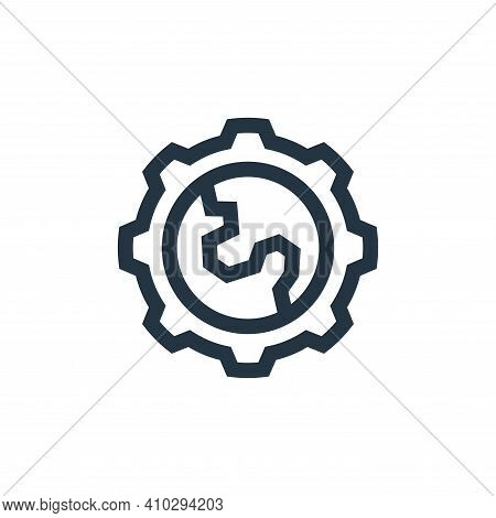 gear icon isolated on white background from mother earth day collection. gear icon thin line outline