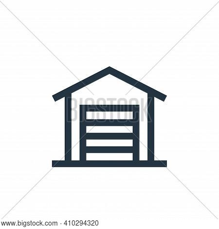 garage icon isolated on white background from real estate collection. garage icon thin line outline