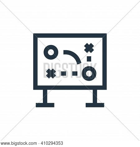 game strategy icon isolated on white background from soccer collection. game strategy icon thin line
