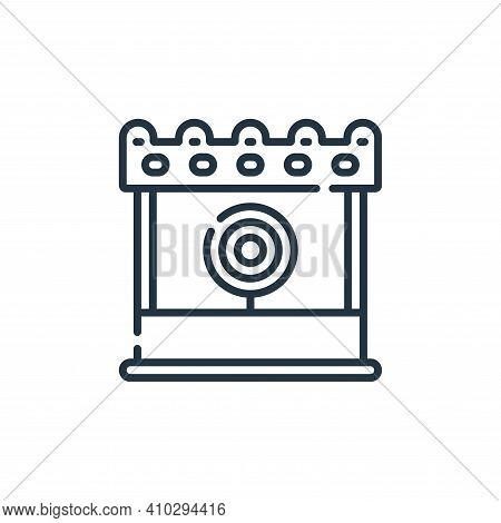 game icon isolated on white background from circus collection. game icon thin line outline linear ga