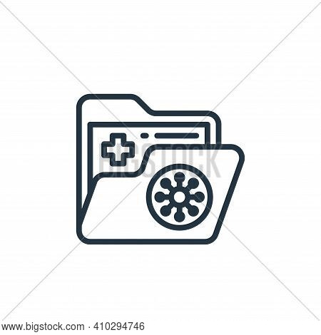 folder icon isolated on white background from coronavirus collection. folder icon thin line outline