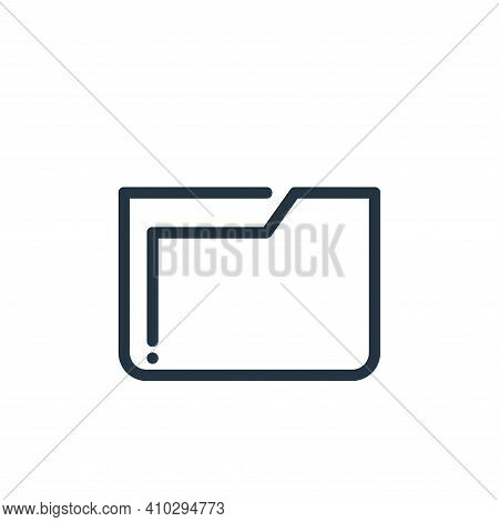 folder icon isolated on white background from ricon collection. folder icon thin line outline linear