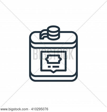 flask icon isolated on white background from camping collection. flask icon thin line outline linear