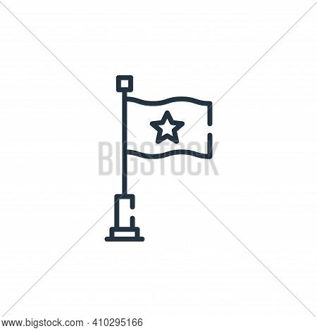 flag icon isolated on white background from circus collection. flag icon thin line outline linear fl