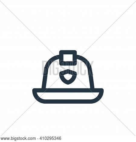 firefighter helmet icon isolated on white background from emergencies collection. firefighter helmet