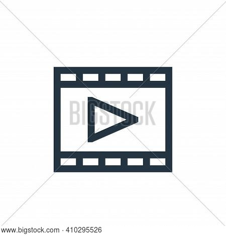 film icon isolated on white background from mental health collection. film icon thin line outline li