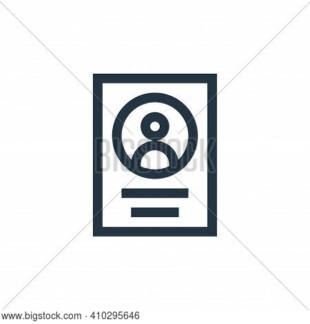 file icon isolated on white background from feedback and testimonials collection. file icon thin lin