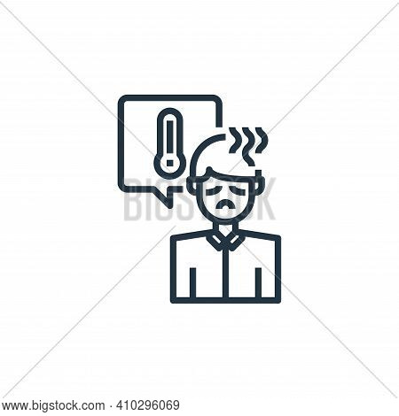 fever icon isolated on white background from coronavirus collection. fever icon thin line outline li