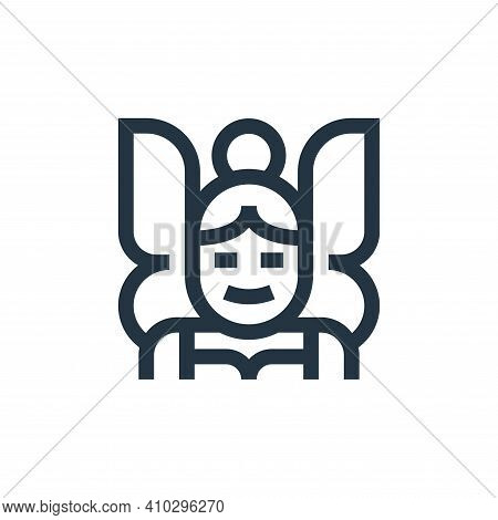 fairy icon isolated on white background from fantastic characters collection. fairy icon thin line o
