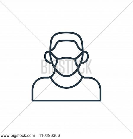 face mask icon isolated on white background from coronavirus disease collection. face mask icon thin