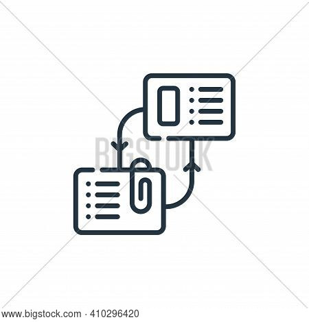 exchange icon isolated on white background from telecommuting collection. exchange icon thin line ou