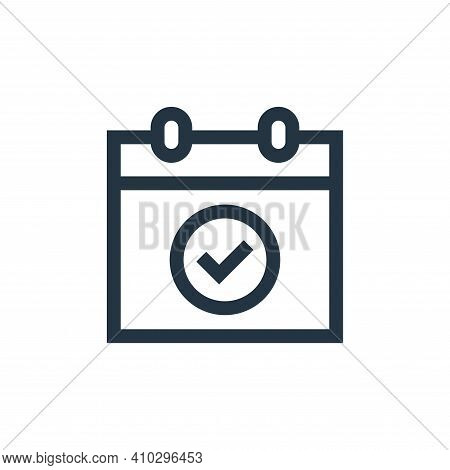 event icon isolated on white background from advertisement collection. event icon thin line outline