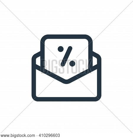 email icon isolated on white background from web apps seo collection. email icon thin line outline l