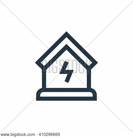 electricity icon isolated on white background from electrician tools and elements collection. electr