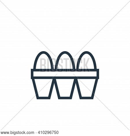 eggs icon isolated on white background from food collection. eggs icon thin line outline linear eggs